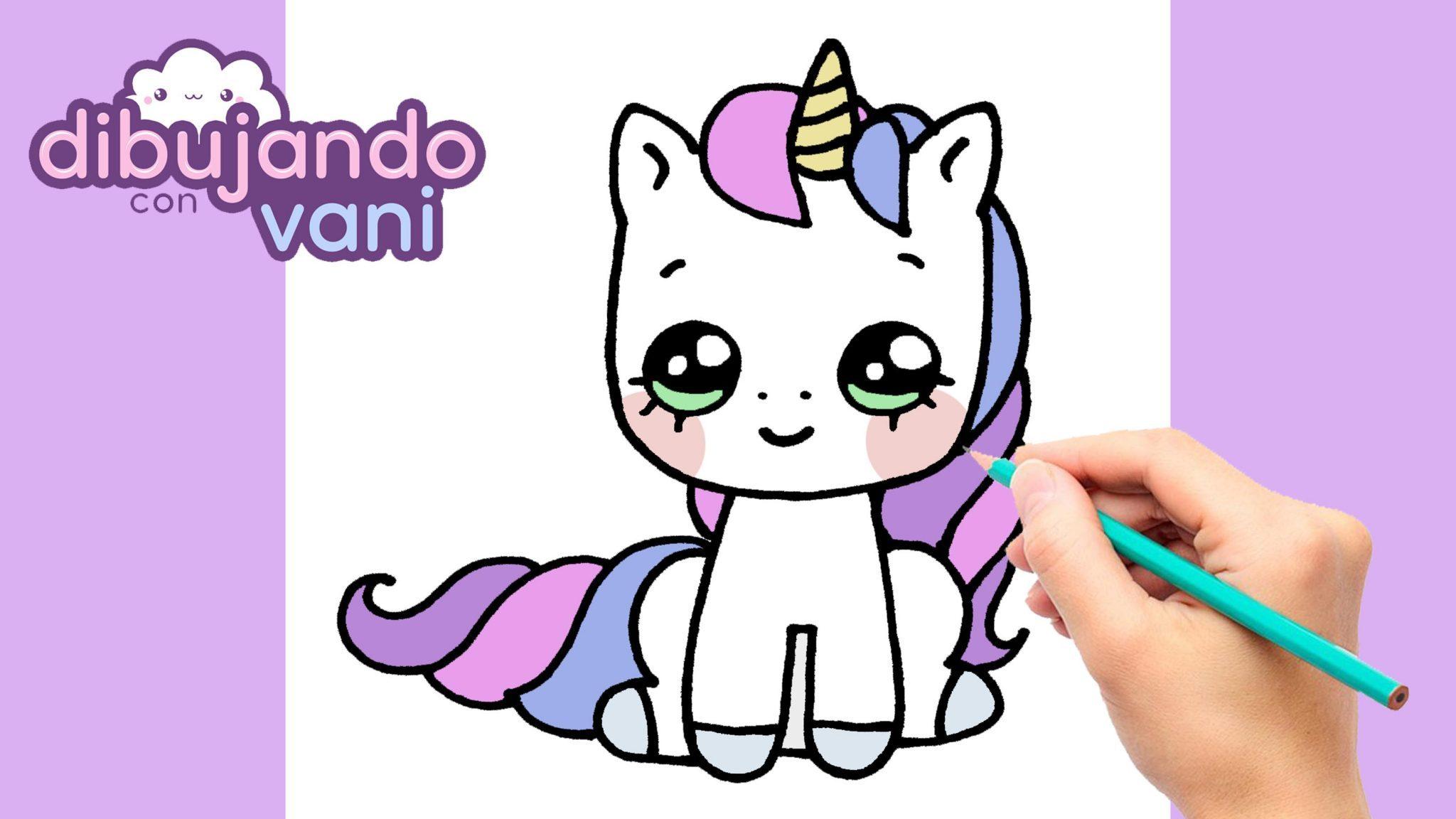 Como Dibujar Un Unicornio Kawaii Dibujando Con Vani