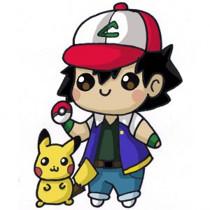 kawaii ash from pokemon