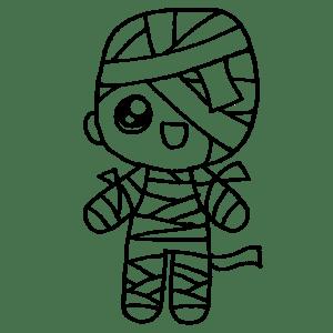 Colorear dibujos kawaii de halloween
