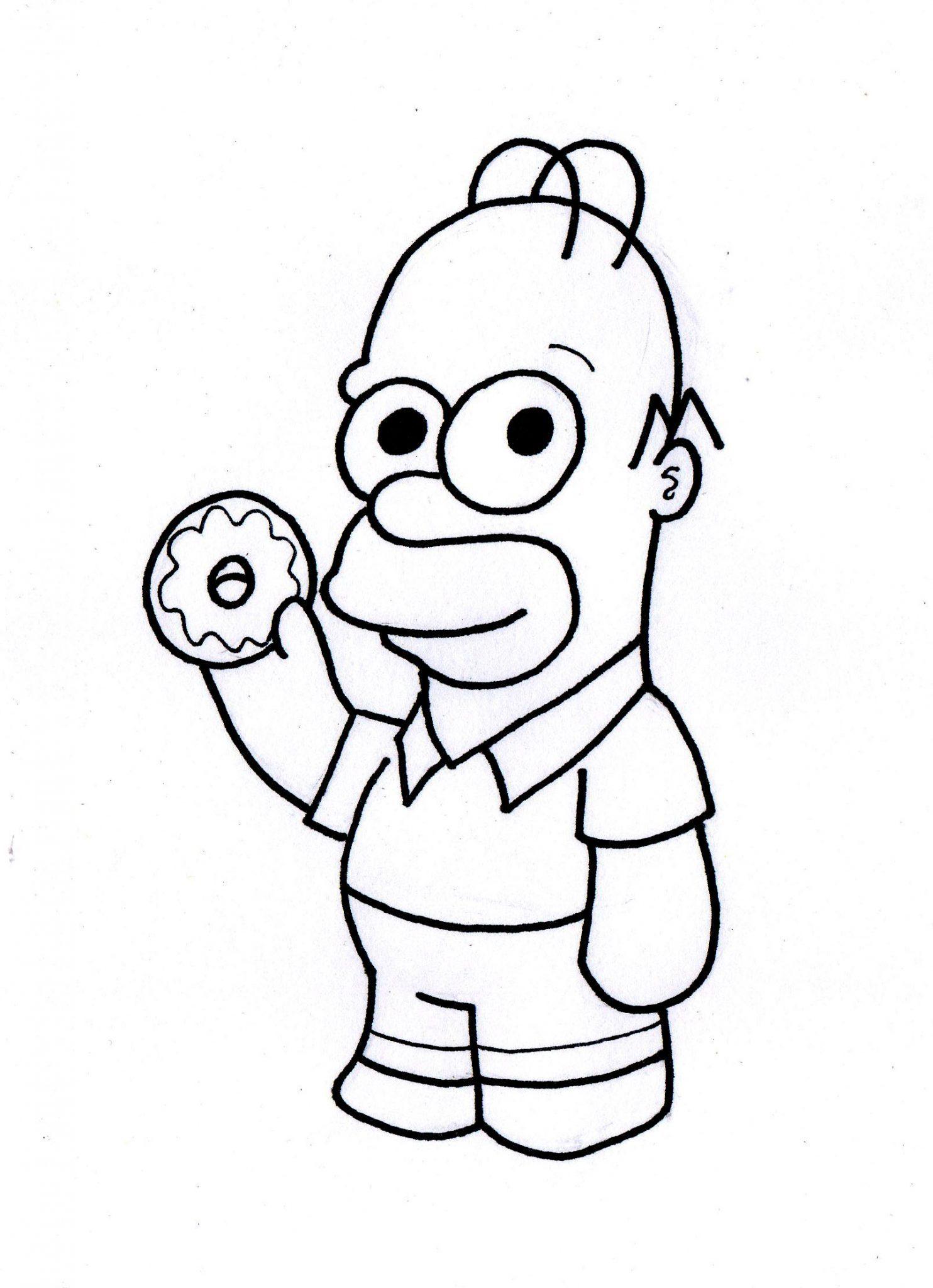 Homero Simpson Kawaii Para Colorear Dibujando Con Vani
