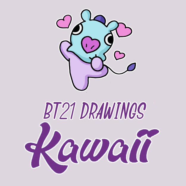 kawaii bt21 drawings