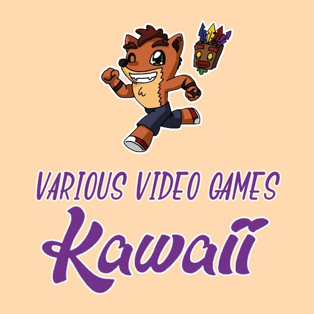 kawaii various video games drawings