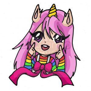 chica unicornio kawaii