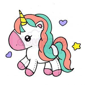unicornio tierno kawaii