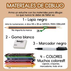 materiales de dibujo kawaii
