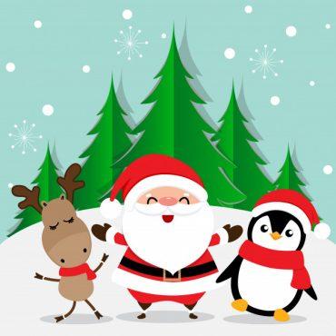 Como dibujar imagenes de navidad kawaii