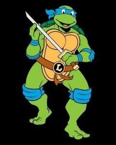 Como dibujar a Leonardo de Tortugas Ninjas kawaii