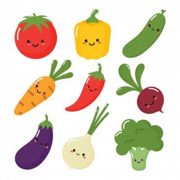 Como dibujar vegetales kawaii
