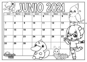 Calendario 2021 para imprimir kawaii - Dibujando con Vani