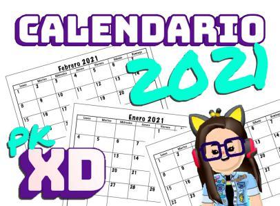 Calendario 2021 PK XD para imprimir kawaii - Dibujando con ...