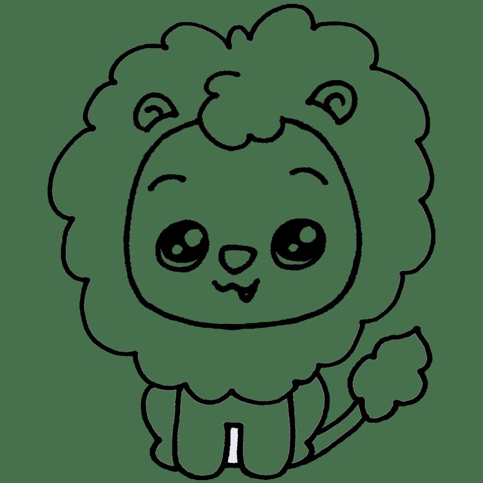 leon-para-colorear.png - Dibujando con Vani