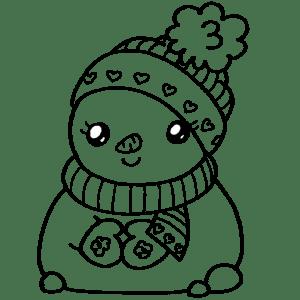 Colorear Dibujos Kawaii De Navidad Dibujando Con Vani