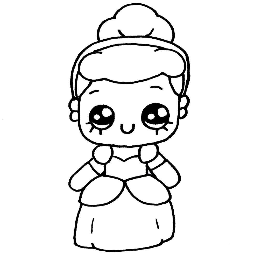 Colorear dibujos kawaii - dibujos par colorear