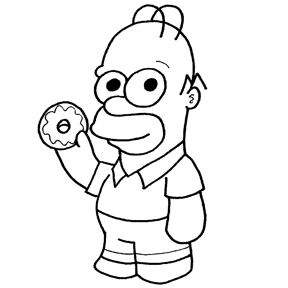 Colorear dibujos de Los Simpsons kawaii - Dibujando con Vani