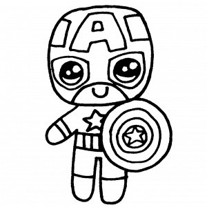 capitan america kawaii