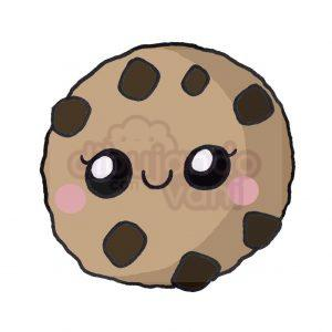 galleta con chispas kawaii