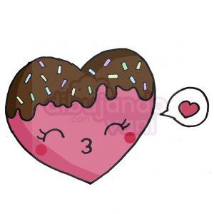 galleta corazon kawaii