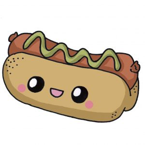 hot dog kawaii