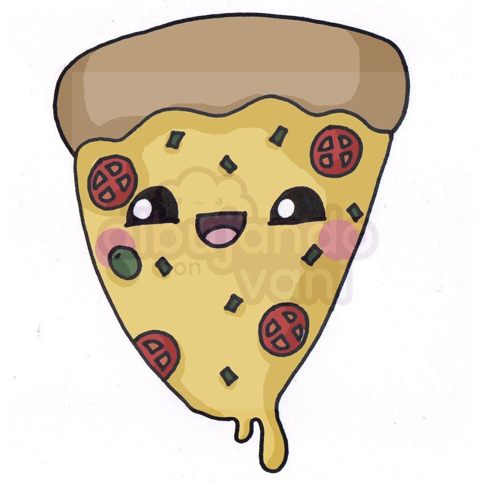 Pizza Kawaiijpg Dibujando Con Vani