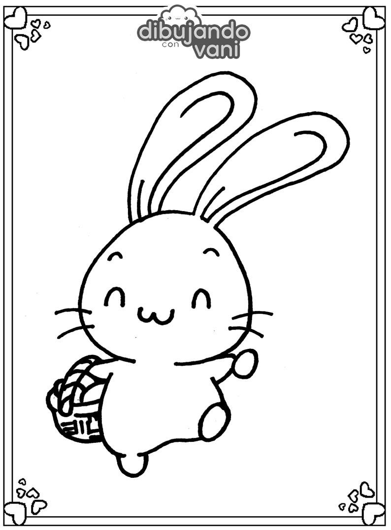 Conejo Con Zanahoria Para Imprimir Dibujando Con Vani Gratis para uso personal o comercial con atribución. conejo con zanahoria para imprimir