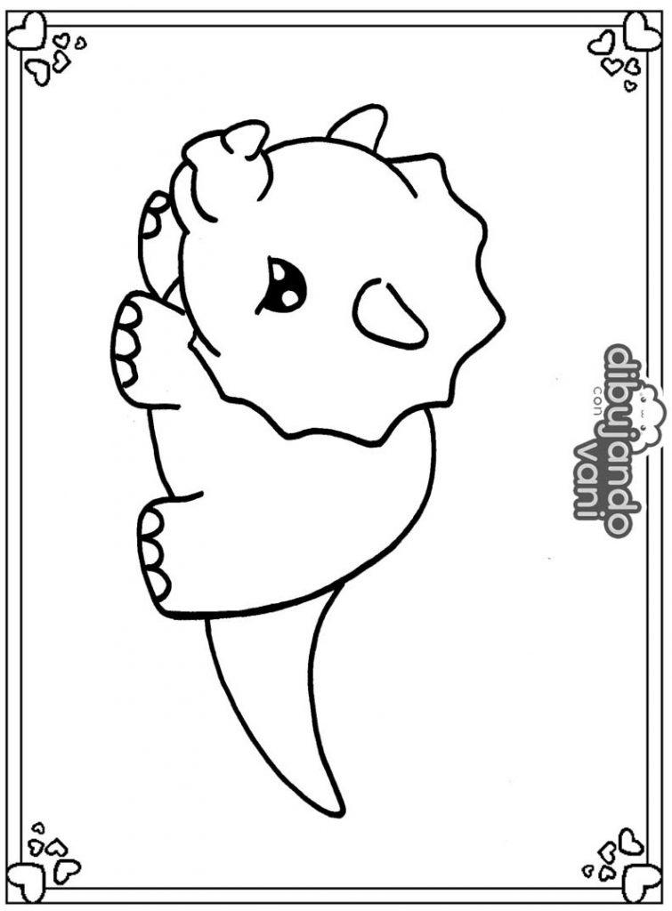 Dibujo De Un Triceratops Para Imprimir Y Colorear Dibujando Con Vani Tejido blando en fósiles de dinosaurios. dibujo de un triceratops para imprimir
