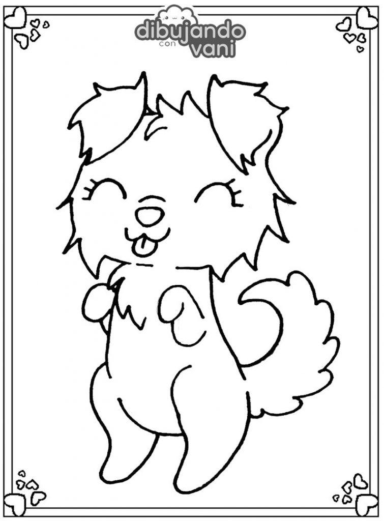 Dibujo de un perro 4 para imprimir y colorear - Dibujando