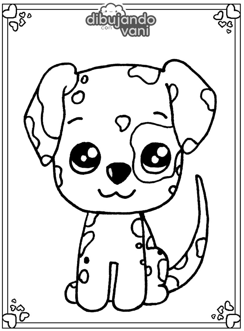 perro dalmata para imprimir - Dibujando con Vani