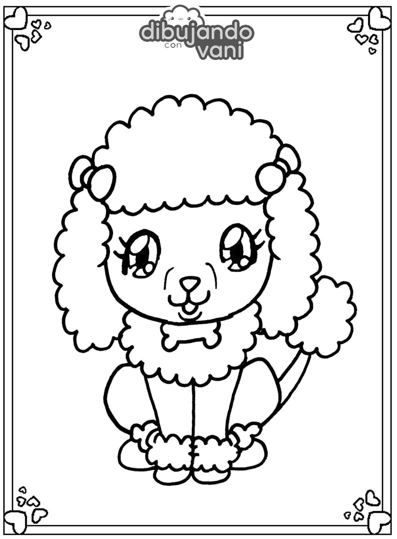 perro poodle para imprimir - Dibujando con Vani