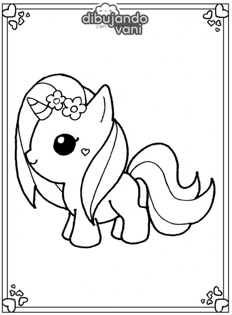 Dibujos De Unicornio Tierno Para Imprimir