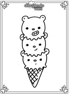 helado de escandalosos para imprimir