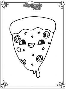 pizza para imprimir