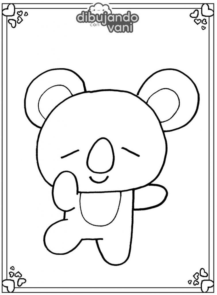 Dibujo de Koya de Bt21 para imprimir y colorear ...