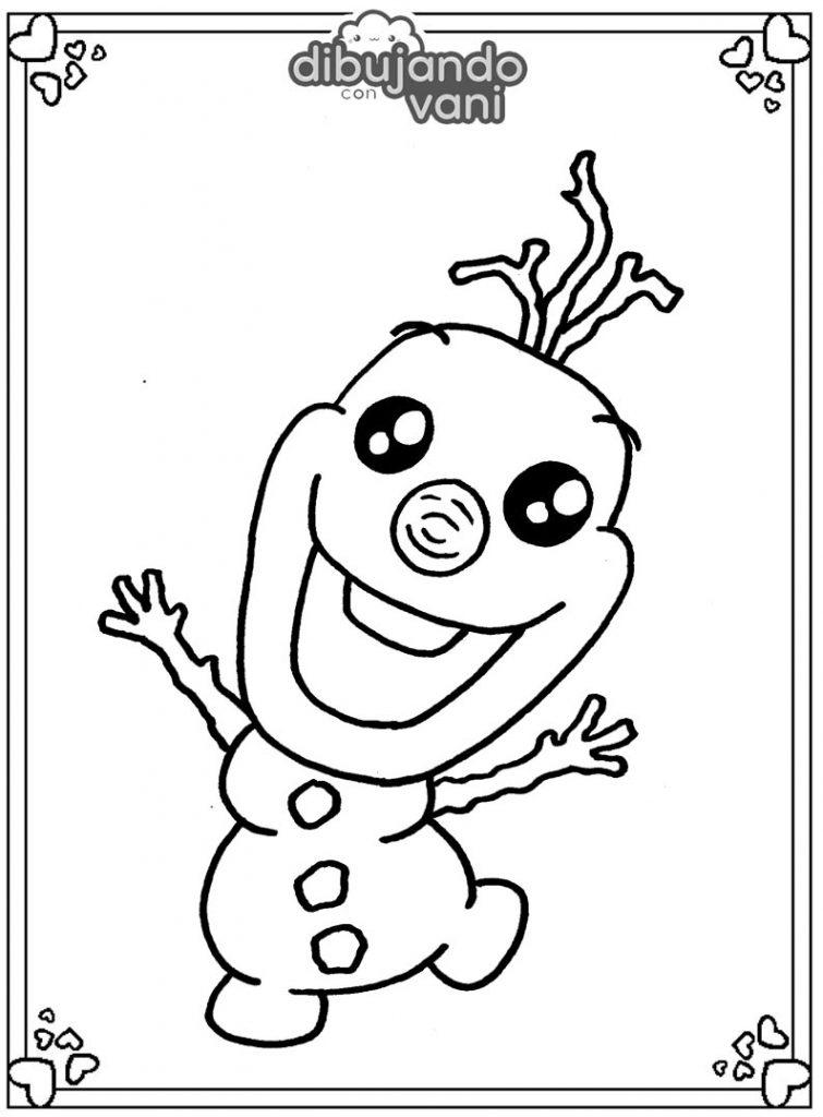 Dibujo de olaf de frozen para imprimir y colorear ...
