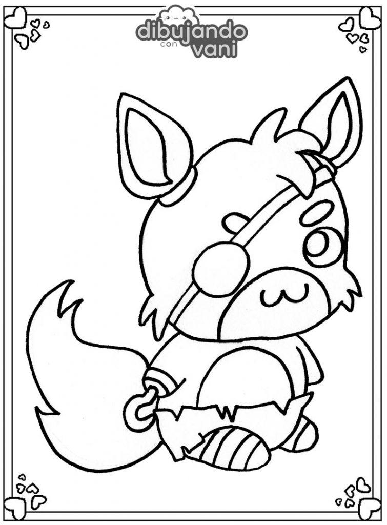 Dibujo de Foxy de Fnaf para imprimir y colorear ...