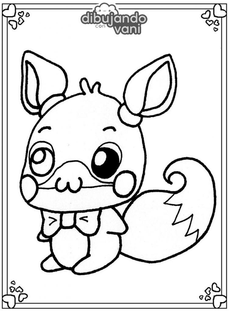 Dibujo de Mangle de Fnaf para imprimir y colorear