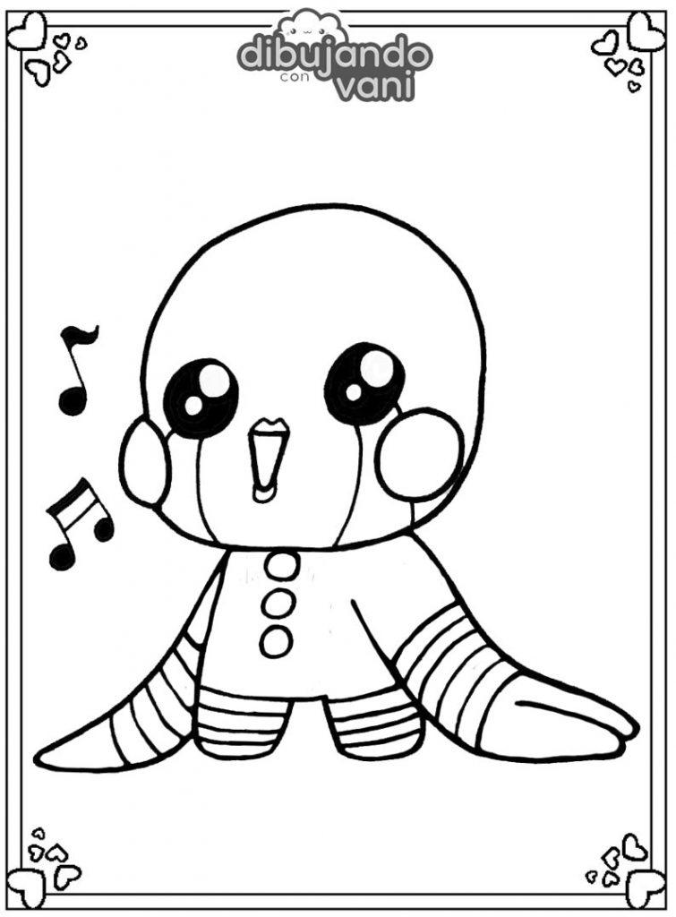 Dibujo de Puppet de Fnaf para imprimir y colorear ...