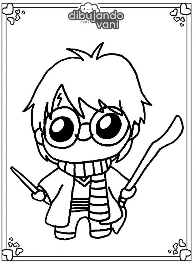 Dibujo de Harry Potter para imprimir y colorear ...