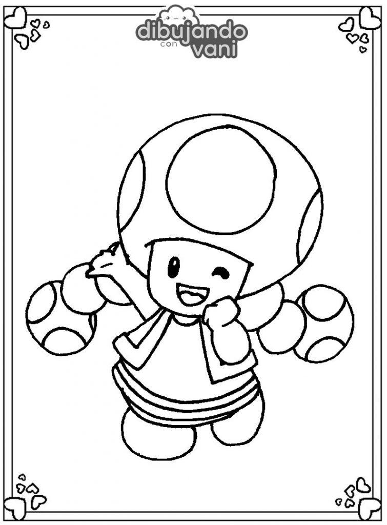 Dibujo de toadette para imprimir y colorear - Dibujando