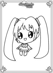 miku hatsune kawaii para imprimir