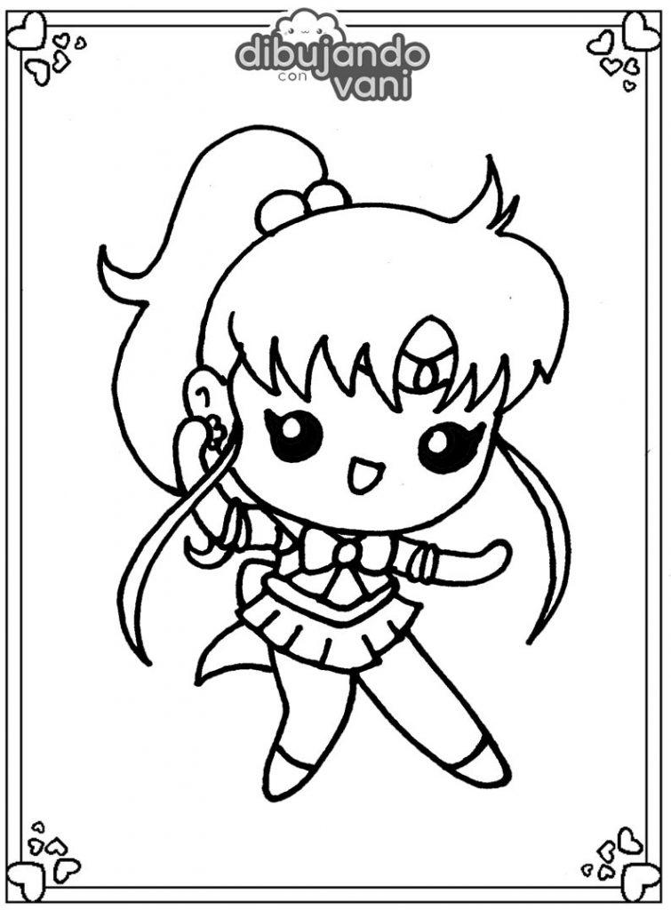 Dibujo de sailor jupiter para imprimir y colorear ...