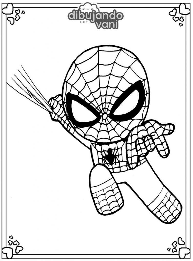 Dibujo de spiderman para imprimir y colorear - Dibujando ...