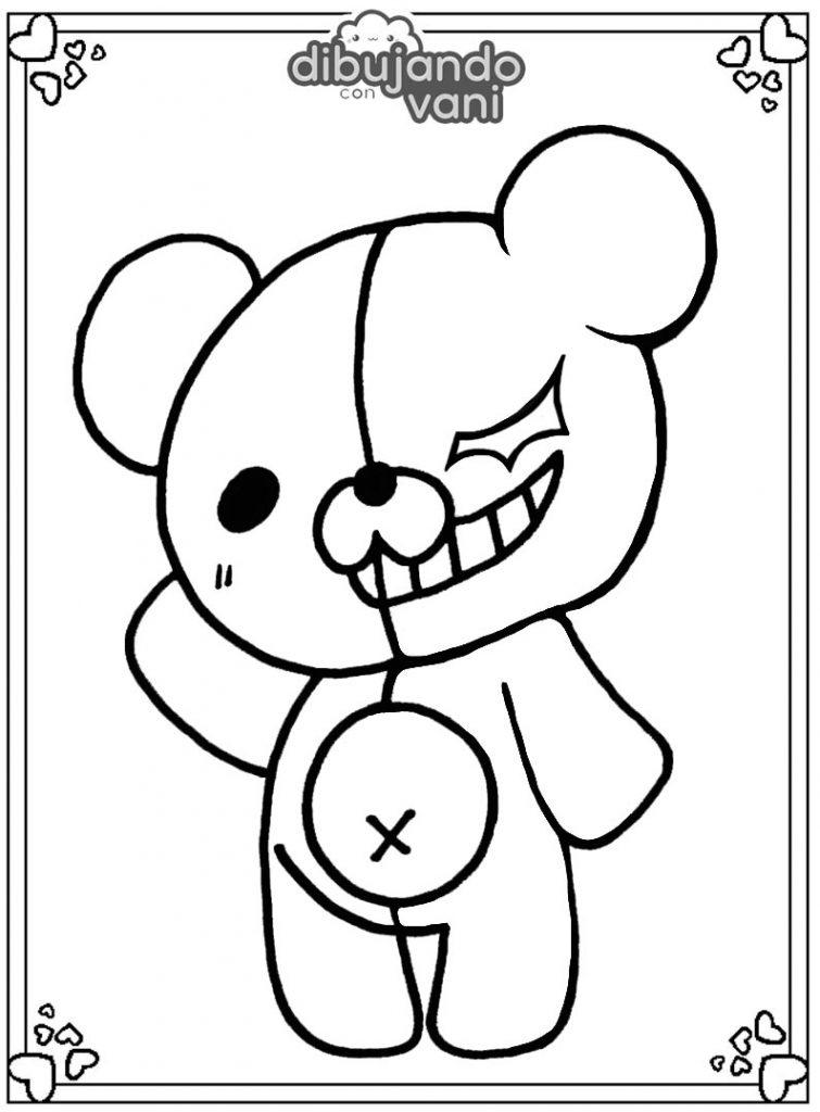 Dibujo de monokuma para imprimir y colorear - Dibujando ...