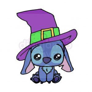 stitch de halloween kawaii