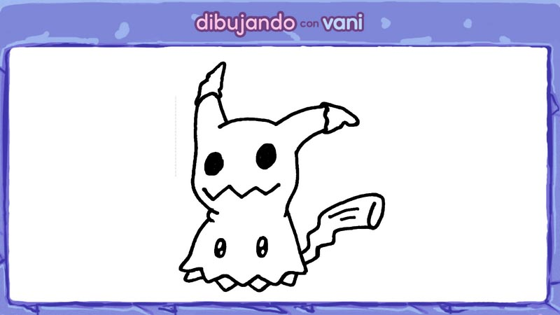 menu mimikyu de pokemon para colorear