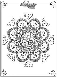 mandala kawaii 1 para imprimir