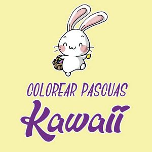 colorear pascuas kawaii