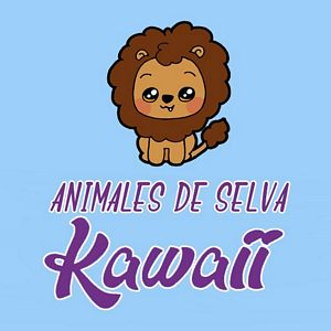 menu animales de selva kawaii
