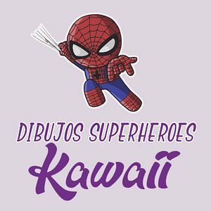 menu dibujos superheroes kawaii
