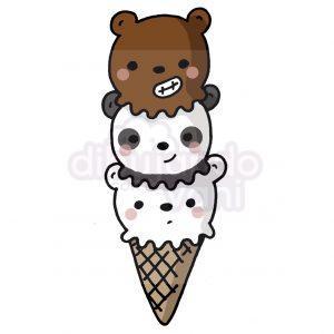 helado de escandalosos kawaii