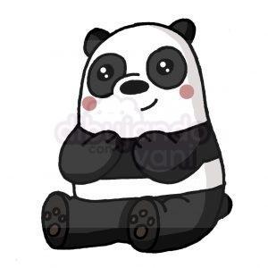 panda de escandalosos kawaii